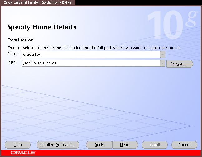 Oracle Installation and Basic Tests